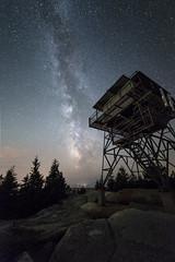 Fire Tower Milky Way (Nate Levesque) Tags: night nightscape maine astrophotography nightsky acadia firetower barharbor mdi milkyway acadianationalpark beechmountain