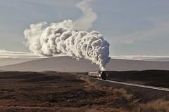 Steam on the open moorland (EltonRoad) Tags: west train highlands railway steam line highland moor corrour rannoch blackfive 44871