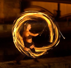 12 Fire dancers perform (Photo by John Nickerson)