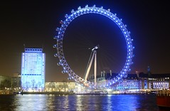London Eye at Night, Thames Embankment, London (barry.marsh1944) Tags: london eye thames night embankment