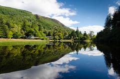 Loch Ard Reflections (rsthomas9) Tags: trees sky mountains water forest landscape scotland highlands nikon loch trossachs lochard