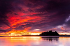Bamburgh Castle - Northumberland - Chris Smith - Captured Canvas (capturedcanvas.co.uk) Tags: chris sunset seascape castle sunrise canon captured smith canvas northumberland colourful bamburgh 1740l 450d