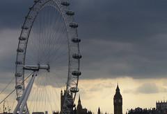 Grey skies (cerebellah) Tags: london westminsterabbey skyline grey housesofparliament londoneye bigben southbank rfh cloudyday londonrooftops openhouse2014 fromtheroofoftheroyalfestivalhall