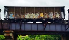 AEST & WYSE (BLACK VOMIT) Tags: 2 car train graffiti ol south dirty mc dos crew coal d30 mayhem freight wh weezy wyse aest aest2 coalie mcult mayhemcru