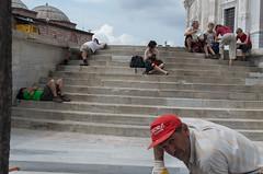 Istanbul, Turkey (Rafcha) Tags: street travel turkey pentax istanbul mosque tourist step bazaar k5
