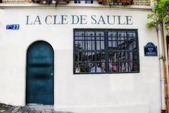 Montmartre shop house (GCF Photography) Tags: city house paris france shop europe european cityscape teal montmartre hr bluegreen fineartphotography georgiafowler ruedessaule gcfphotographycom lacledesaule