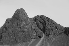 B&W Mtnscp #5 (lfur Bjrnsson) Tags: summer bw white mountain black mountains rock stone canon landscape eos iceland south 6d lfur