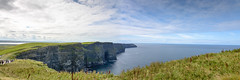 Panorama view of Cliffs of Moher and Atlantic Ocean - County Claire Ireland (mbell1975) Tags: ocean county ireland sea panorama terrain irish cliff mountain west water landscape bay coast landscapes claire rocks europe clare view top pano north rocky eu panoramic an irland eire cliffs na atlantic co limestone vista westcoast moher irlanda irlande éire aillte poblacht airlann mhothair héireann ilobsterit