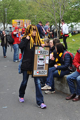 The Fortune Seller... (Smith-Bob) Tags: street ladies people woman colour lady fan costume women candid sydney melbourne gone swans plates fans colourful sell fortuneteller footy seller aussierules grandfinal hawthorn afl hawks bloods numberplates australianrulesfootball southmelbourne sydneyswans hawthornhawks thebloods thehawks hawthornfootballclub regoplates ilovebuddy sydneyfootballclub fortuneseller i❤buddy 2014grandfinal