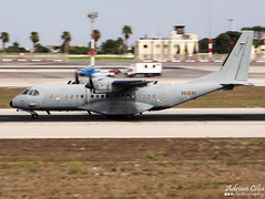 Spain Air Force --- CASA C-295M --- T21-13 (Drinu C) Tags: plane casa aircraft military sony panning dsc mla spainairforce lmml c295m t2113 hx100v adrianciliaphotography maltainternationalairshow2014