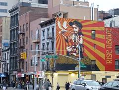 Rise above (Goggla) Tags: nyc new york street art streetart graffiti east village mural shepard fairey shepardfairey