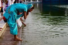 Purification (boostedstockphotos) Tags: temple india ladakh purification water holy washing bathing religion culture amazing beautiful wander explore travel awesone woman girl indian