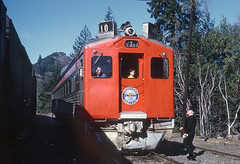 SP-10 RDC as NWP Train 3, the Redwood, at Fort Seward, CA on January 31, 1971 (railfan 44) Tags: southernpacific