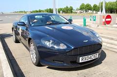 Aston Martin DB9 (D's Carspotting) Tags: aston martin db9 france coquelles calais blue 20100613 rx04cvz le mans 2010 lm10 lm2010