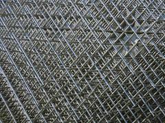 Sphere - Trames (1989) (Ed Sax) Tags: francoismorelle 1989 rasterkugel edelstahl stainlesssteal art kunst moderne galeriealteneuemeister schwerin skulptur sculpture grey silver silber grau