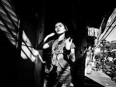 Senior High (Meljoe San Diego) Tags: meljoesandiego ricoh ricohgr streetphotography street candid girl monochrome light shadow