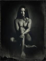 Savage Woman (mmeshka) Tags: alternative alternativephotography ambrotype blackandwhite collodion epsonv600 fkd18x24 industar37 largeformat tintype wet plate wetcollodion portrait indoor