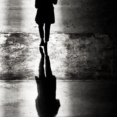 * (donvucl) Tags: shadow bw woman reflection texture squareformat lightandshade donvucl olympusepl5