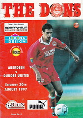 Aberdeen vs Dundee United - 1997 - Cover Page (The Sky Strikers) Tags: new bells design living dundee united aberdeen firm derby pittodrie