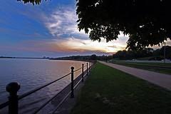 Mississippi Davenport 4 (alansheaven) Tags: bridge reflection water night iowa ia mississippiriver nightsky davenport