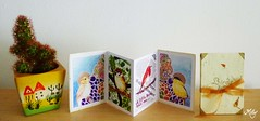 Birds Handmade Mini Accordion Book (Milagritos9) Tags: handmade birdportrait minibooks birdart birdillustration birdjournal birdshandmade minilibrosilustradoshechosamano birdsminibook birdminiportrait handmademiniaccordionsbook minibooksonsale