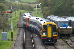 20131026 045 Swanage Railway. Corfe Castle. 159009, 159006. UK Railtours 'Dorset Dominator', 1Z22 16.26 Swanage-Waterloo (15038) Tags: br diesel trains railways britishrail corfecastle dmu swanagerailway class159 ukrailtours 159009 159006 dorsetdominator
