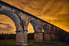 Twemlow Viaduct, Cheshire (Raven Photography by Jenna Goodwin) Tags: bridge sky orange jenna train photography long exposure cheshire viaduct raven goodwin tremlow nostrobistinfo removedfromstrobistpool seerule2