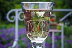 A Glass of White Wine in the Garden (Lens Daemmi) Tags: white glass garden wine olympus garten glas weiswein epl6