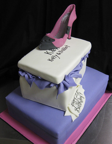 Stacked Shoe Box Cake