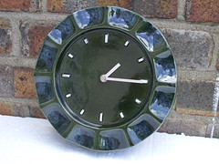 1960s 70's Honiton Pottery England Ceramic Metamec Clock Mid Century Modern Design (beetle2001cybergreen) Tags: england clock modern century ceramic design 70s pottery 1960s mid honiton metamec