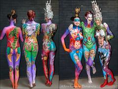 ... bodypainting efteling wedstrijd paints verf thema kleuren dongen