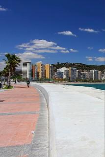 Málaga, Spain - looking onto one of the town beaches