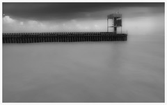Rye Nature Reserve, Sussex (symzie) Tags: england sky bw white black nature water clouds landscape sussex harbour cambersands reserve wideangle rye naturereserve and ryeharbour monchrome riverrother mft ryenaturereserve ryeeastsussex beacheslandscapes gx7 microfourthirds panasonicgx7