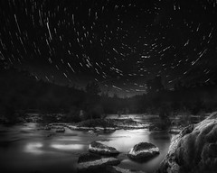 Cottor river (Peter Whittam) Tags: blackandwhite canon landscape australia canberra startrails manfrotto imagestack 5dmarkii cottor