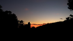 mystery building (Darek Drapala) Tags: light sunset shadow sky sun black silhouette mystery landscape lumix evening poland polska panasonic g2 skyskape panasonicg2