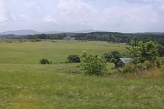 Peek a Barn (Jamfke) Tags: mountains field barn landscape hay haybales
