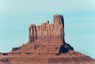 Stagecoach and Castle Rock in Monument Valley, Arizona