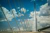 Millau Viaduct (Viaduc de Millau), Aveyron, Midi-Pyrenees, France (Stewart Leiwakabessy) Tags: bridge people france architecture river high roadtrip structure viaduct pylon cables tarn fr a75 newcar millau viaduc aveyron midipyrenees midipyrénées stewartleiwakabessy viaducdemillau rivertarn cablestayedbridge arcadis michelvirlogeux brianfoster peugeot308 ©stewartleiwakabessy labastidepradines n7roadtrip provence2014
