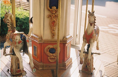 rollercoaster ride (Blbyburk) Tags: summer analog 35mm children carousel fed3