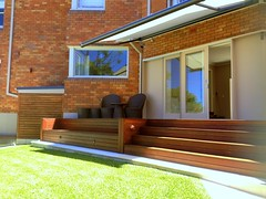 Three Stepped Timber Deck