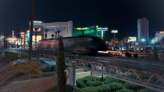 Las Vegas Monorail by Luxor Hotel