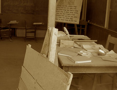 Teacher's Desk - Bodie Ghost Town Collection (Life_After_Death - Shannon Day) Tags: life california county old city west art history dusty abandoned sepia silver carson photography death gold mono book town mine day desert desk antique nevada ghost 1800s dream books eerie sierra mining teacher collection shannon 49 papers rush dreams western historical after bodie lesson dust schoolhouse chalkboard inkblot artifact tone quill miner artifacts desks easel 1900s bodieghosttown lawless lifeafterdeath 49er shannonday lifeafterdeathstudios lifeafterdeathphotography shannondayphotography shannondaylifeafterdeath