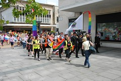 "Plymouth Pride Parade arrives at the Piazza • <a style=""font-size:0.8em;"" href=""https://www.flickr.com/photos/66700933@N06/14694045187/"" target=""_blank"">View on Flickr</a>"