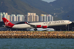 G-VEIL_1600_071912 (Sergey Kustov) Tags: china airplane asia aircraft atlantic landing hong kong virgin airbus runway hkg a340600 gveil vhhh 25r
