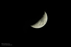 Moon (Jon Bowles) Tags: moon pentax aerial crescent k3