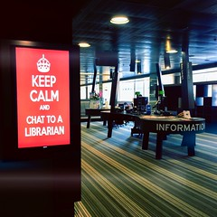 Chat to a librarian (retrokatz) Tags: library libraries academic universityofmelbourne libslibs librariesandlibrarians giblineunsonlibrary