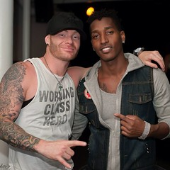 """With my brotha from anotha color @ambitionthekid - we done seen it all!!!! #music #pittsburgh #pgh #breathbybreath #jessemader #ambition photo by @pinkjody Jody Mader Photography #clubcafe #urbanrock #urbanrockproject • <a style=""""font-size:0.8em;"""" href=""""https://www.flickr.com/photos/62467064@N06/14925441145/"""" target=""""_blank"""">View on Flickr</a>"""