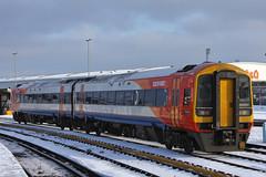 158884, Fratton, January 8th 2014 (Southsea_Matt) Tags: snow southwesttrains fratton class158 158884 158772