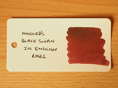 Noodler's Black Swan in English Roses