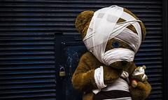 Carebear (snarulax) Tags: bear street oso calle teddy carebear bandage peluche botarga vendaje